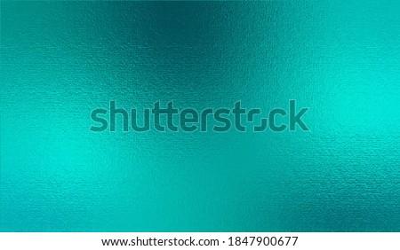Turquoise metallic effect. Teal texture shine foil. Glitterer background. Metal effect. Blue green surface. Backdrop glitter mint metal plate. Metallic texture foil for design invitation, card, prints
