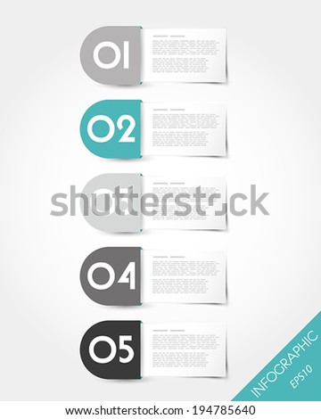 turquoise packaged rounded labels. infographic concept.