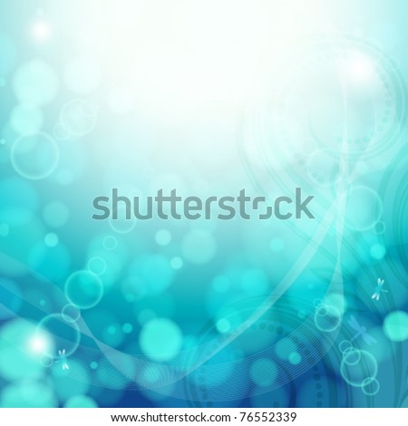Turquoise summer background.