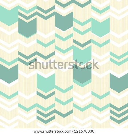 turquoise white beige simple arrows retro traditional geometric pattern