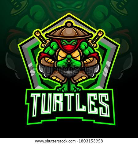 turtle esport logo mascot design
