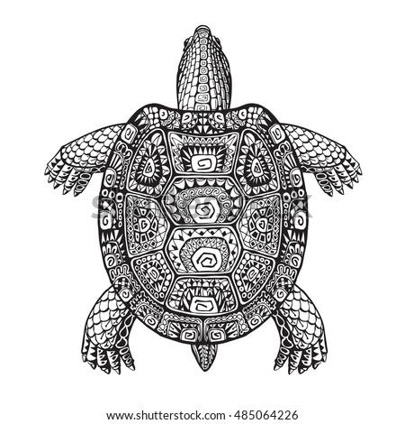 turtle ethnic graphic style