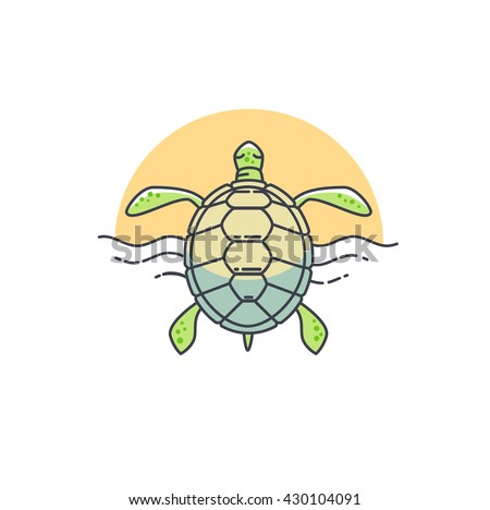 turtle icon vector character