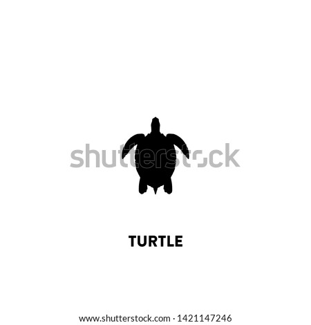 turtle icon vector. turtle sign on white background. turtle icon for web and app