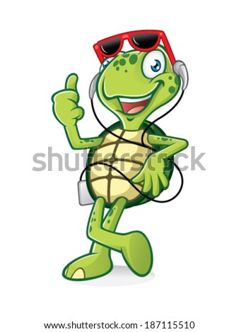 Vector Images Illustrations And Cliparts Turtle Is Standing