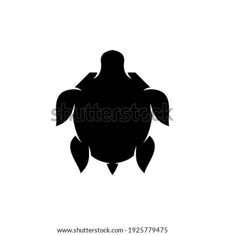 turtle logo with silhouette