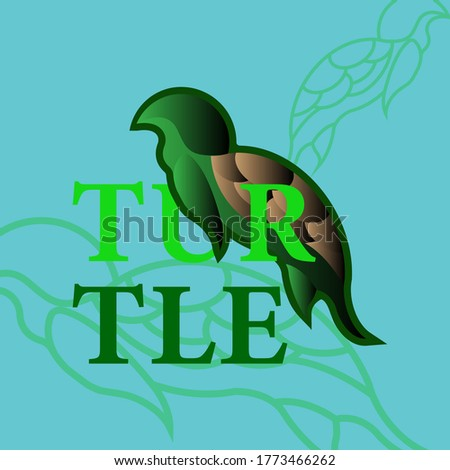 turtle of logo concept with green color. vector illustration
