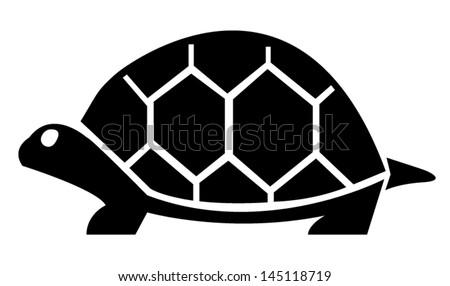 turtle on white symbol