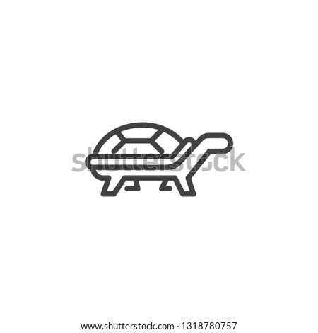 turtle side view line icon