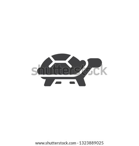 turtle side view vector icon