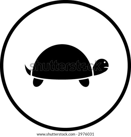 turtle symbol - stock vector
