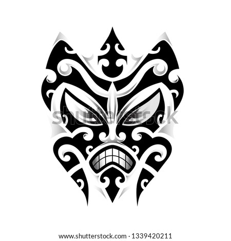 13ae2f754 Stock turtle tattoo tribal, ethnic polynesian pattern ornaments vector, maori  style Plumeria flower as ...