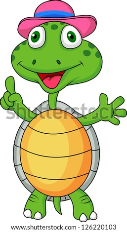 Turtle with thumb up