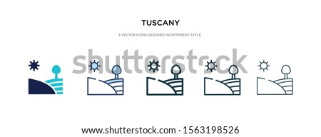 tuscany icon in different style