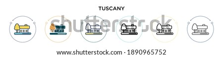 tuscany icon in filled  thin