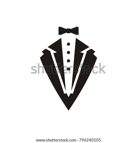 tuxedo logo vector illustration hipster vintage