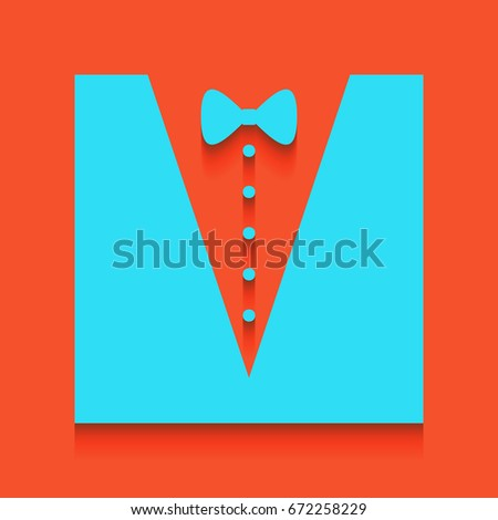 tuxedo with bow silhouette