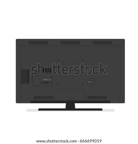 tv back side vector