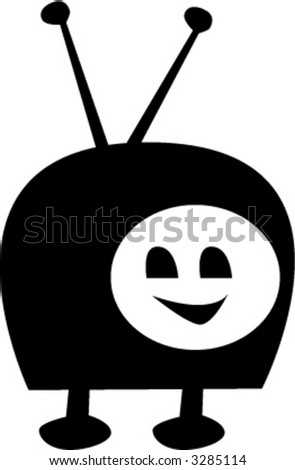 TV Character - fully editable vector drawing