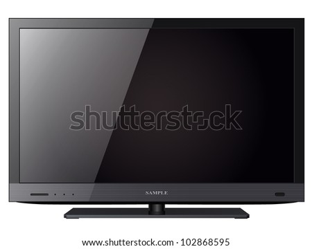 TV flat screen lcd, led isolated. - stock vector