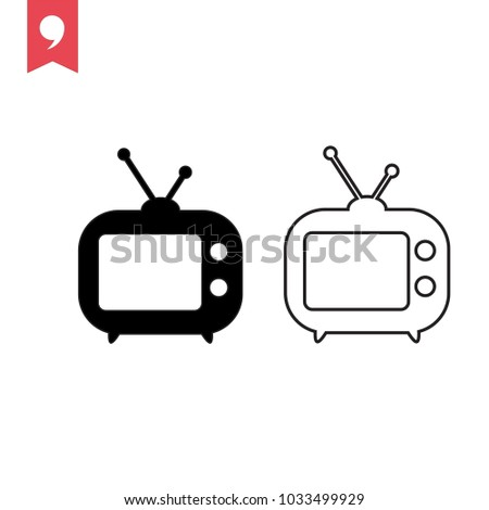 Tv Icon in trendy flat style isolated on grey background. Television symbol for your web site design, logo, app, UI. Vector illustration, EPS10.