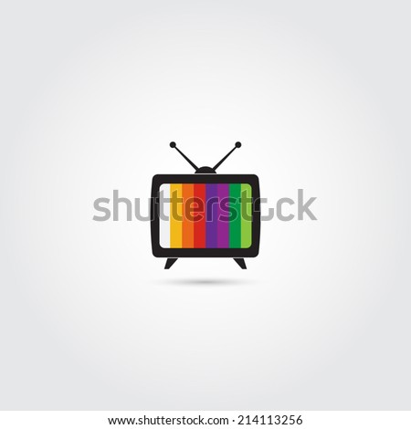 TV icon - Vector