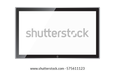 Tv Icon vector illustration in flat style isolated on white background. Television symbol for web site design, logo, app, ui.