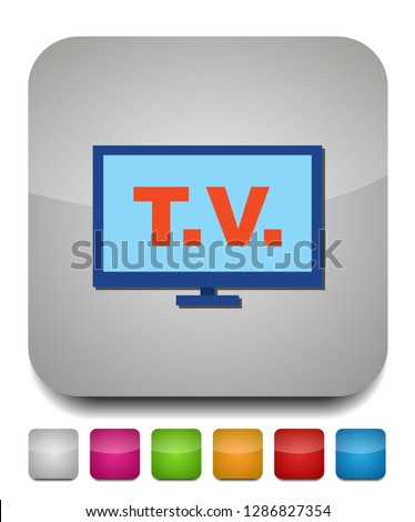 tv icon, vector television screen - watching television icon, television screen isolated