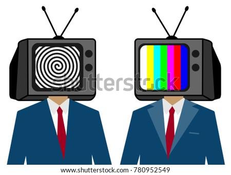 tv instead of a man head