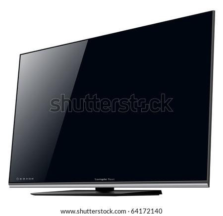 TV lcd, led - detailed vector illustration.