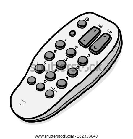 tv  remote   cartoon vector and