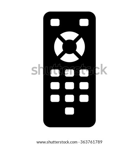 TV remote control flat icon for apps and websites