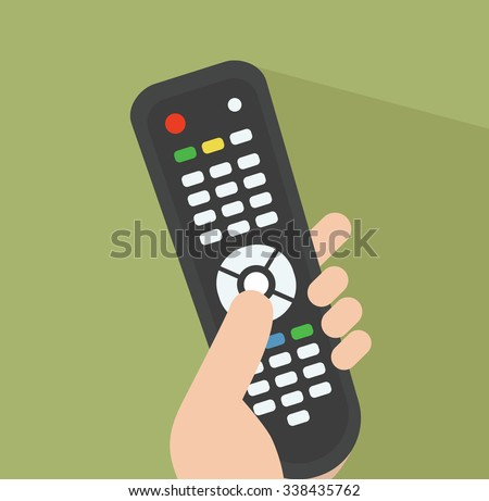 TV remote control Simple illustration Related to watching TV, The Media and Remote control for Your Design.