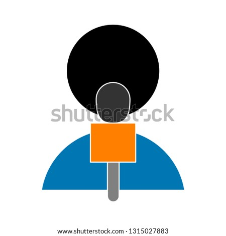 tv-reporter icon - tv-reporter isolated , conference coverage illustration - Vector reporter