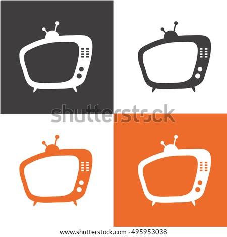 TV. Retro TV icon