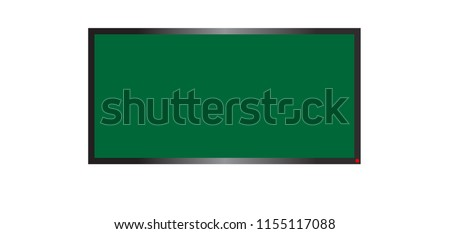 TV screen. Modern LED wall panel, led type, isolated on white background.
