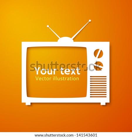 Tv set applique background. Vector illustration for your design or business presentations
