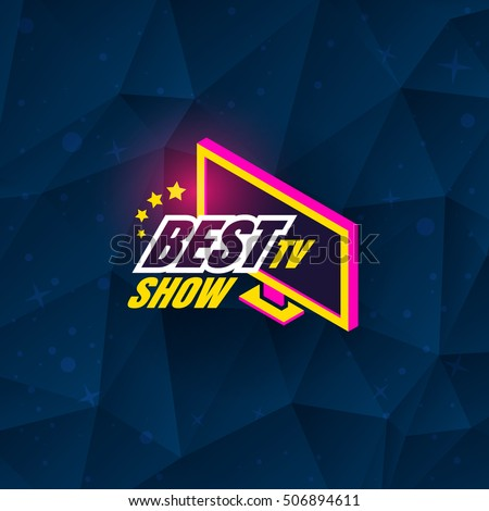 Tv show logo template design. Vector illustration