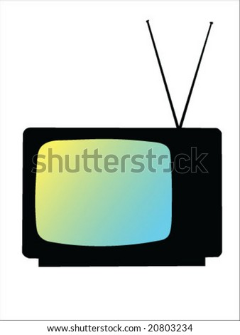tv silhouette vector