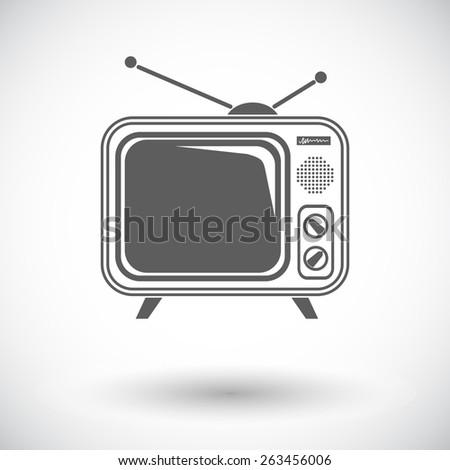 tv single single flat icon on