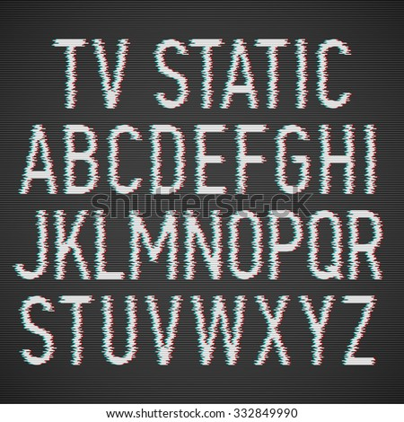 tv static noise effect font