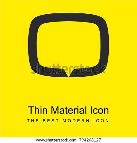 Tv tag logotype symbol bright yellow material minimal icon or logo design