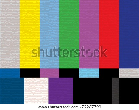 tv test color screen - illestration