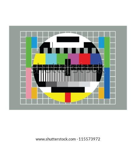 tv test vector illustration