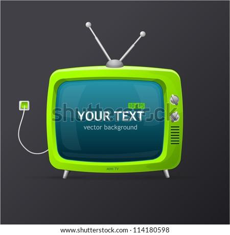 Tv vector blank - stock vector