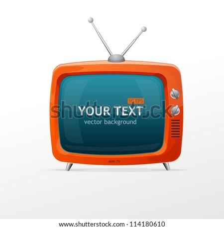 Tv vector blank ストックフォト ©