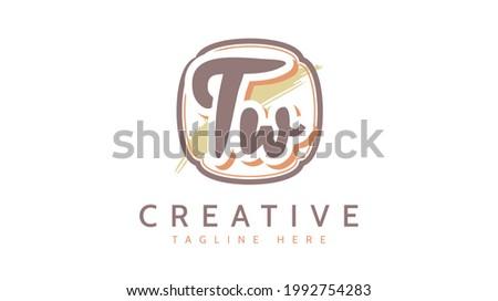 TW Initials, handwriting logo vector