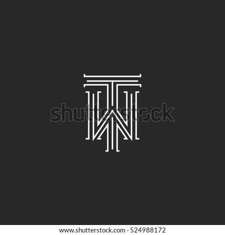 tw letters logo medieval