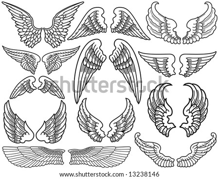 clip art angel wings. and White Angel Wings