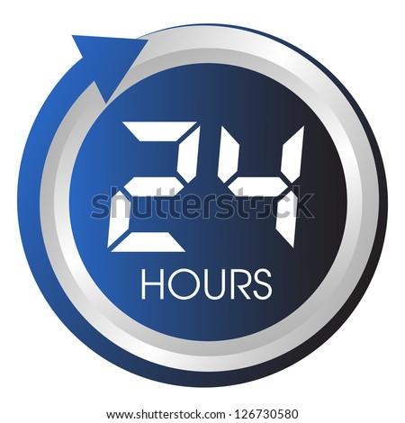 Twenty four hours button.